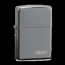 zippo打火机烟缸版 礼盒套装(黑冰150zl+304不锈钢烟缸+火石)