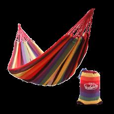 双人帆布 彩条吊床 加厚加宽